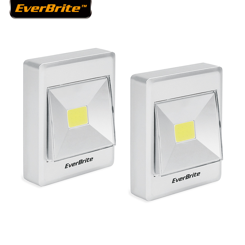EverBrite Night Lights COB Cordless Emergency Lights Magnetic, Novelty Square Bedroom Lamp For Baby Wardrobe Camping(2-pack)