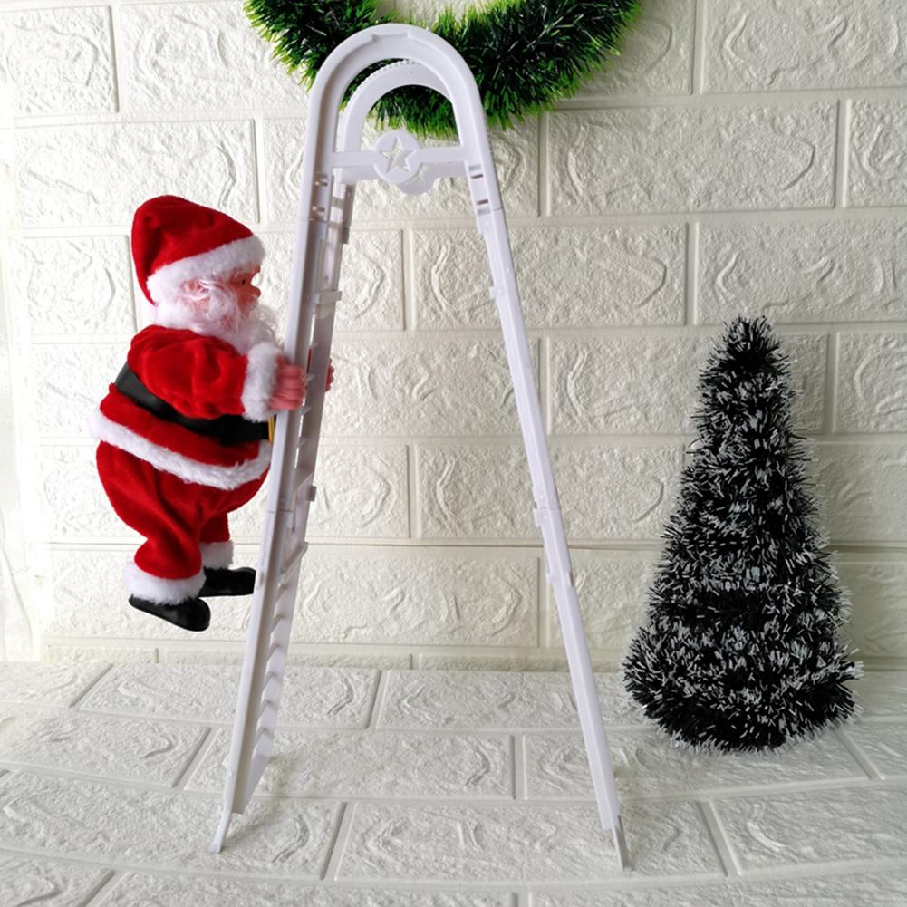 Upgraded Creative Toy Excellent Plastic Plush Santa Claus Climbing Ladder Electric Doll Plush Electric Toy Accessories