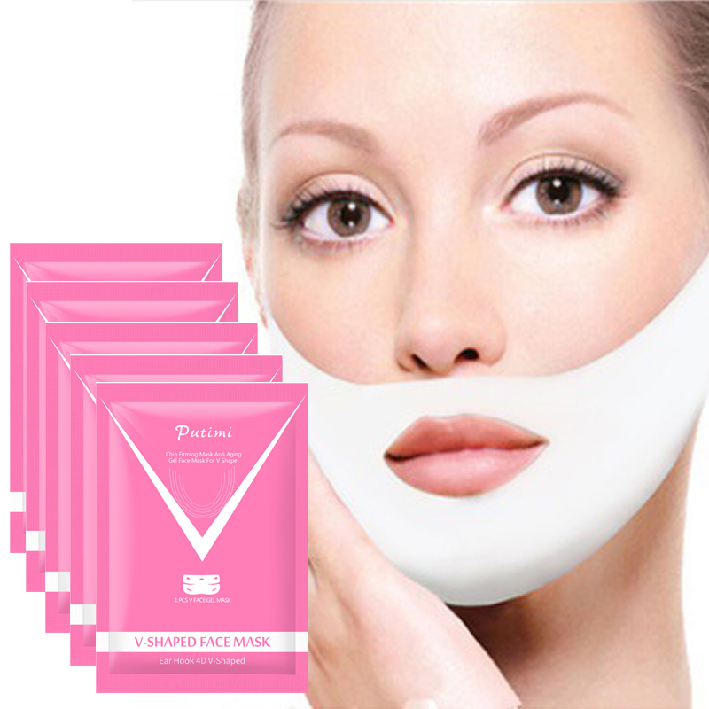 1pc V Face Shape Tension Firming Facemask Slimming Eliminate Edema Lifting Thin Face Lift Tools Face Care Tools  Dropshipping