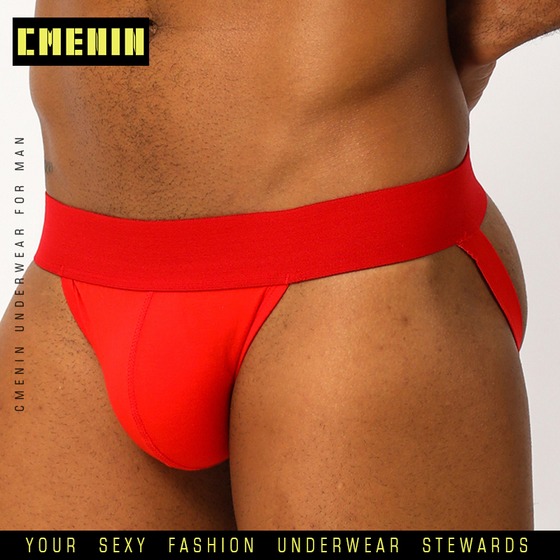 Sexy Gay Men Underwear Male Jockstrap G String Thongs Mens Underpants Briefs Pure Cotton Solid Mens Panties Sexy Man Thong BP.01