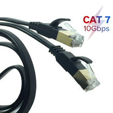 Cable Ethernet 10gbps CAT7 STP 8P8C, Cable de conexión RJ45, Lan de red de Internet para enrutador de PC, portátil, Cat 7, Cable de red de 0,5 M