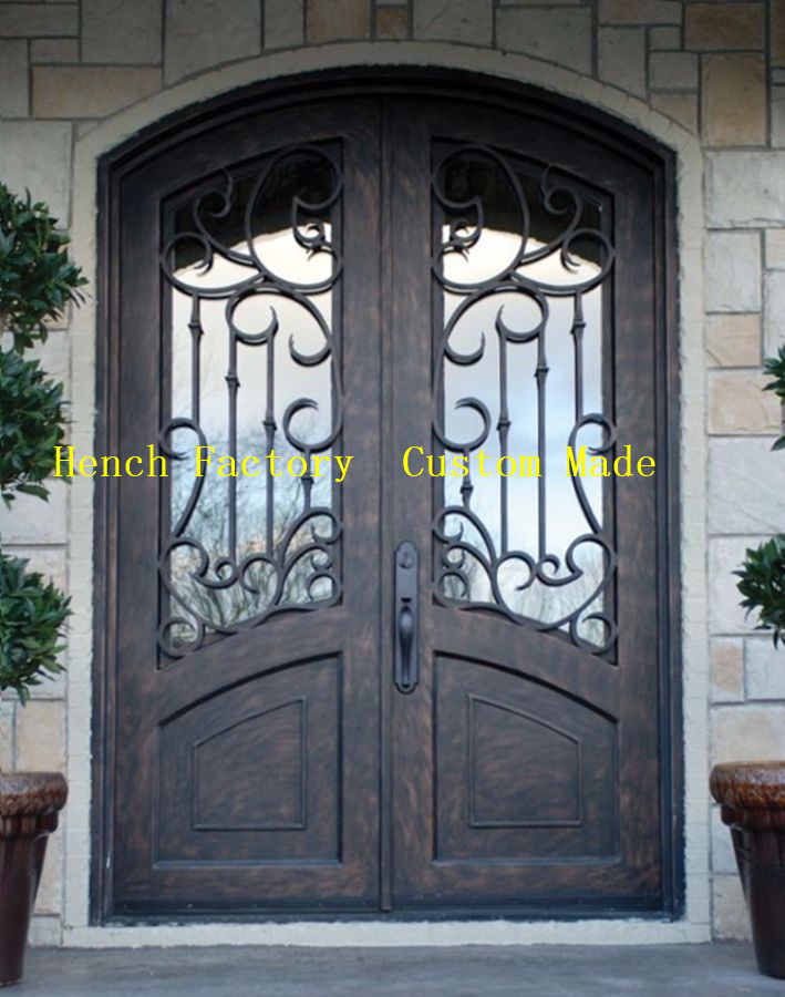 Shanghai Hench Brand China Factory 100% Custom Made Sale Australia Patio Iron Doors