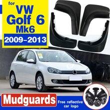 For Volkswagen VW Golf 6 Mk6 2009 2010 2011 2012 Set Molded Mud Flaps Mudflaps Splash Guards Front Rear Mud Flap Mudguards mud flaps for vw tiguan mk1 2008 2016 limited 2017 mudflaps splash guards front rear mudguards 2009 2010 2011 2012 2013 2014