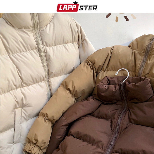 Men's Colorful Puffer Jacket With High Collar 3