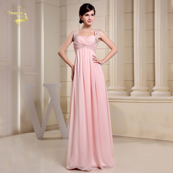 robe de soiree Pink Bridesmaid Dresses A Line Sweetheart Graduation Dress Women Long For Wedding Prom Gown Real Price