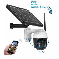 PTZ Security WIFI IP Camera Outdoor HD 1080P Solar Power Wireless CCTV Camera Two-Way Speak Night Vision