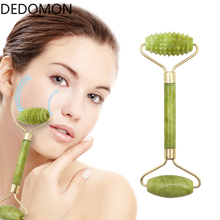 Facial Massage Roller Double Heads Jade Stone Face Lift Hands Body Skin Relaxati