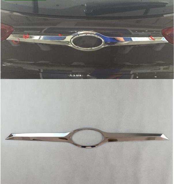 Wysokiej jakości ABS Chrome tylne drzwi bagażnika osłona klamki Tail brama zgrabna Bezel odlewnictwo samochodu stylizacji dla Hyundai Tucson 2015 2016 2017 2018