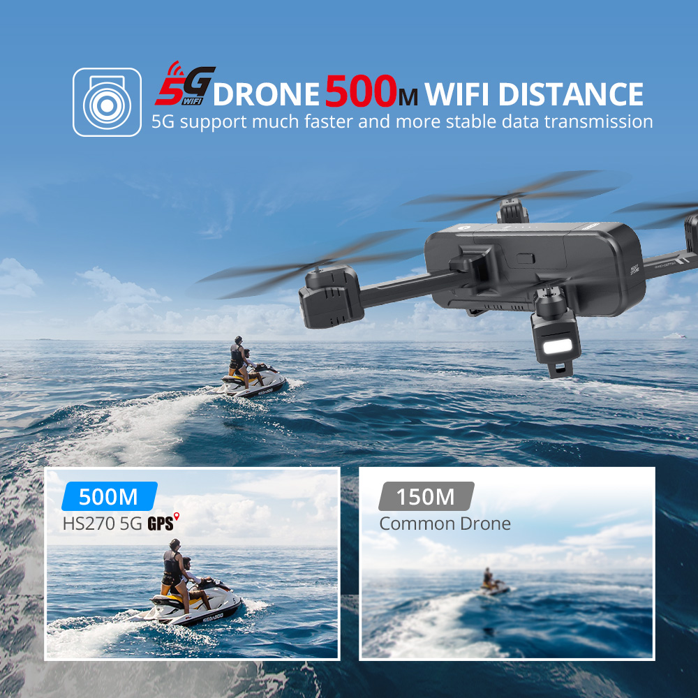 Holy Stone HS270 RC Drone 4K GPS 5G Camera Profesional 400M WIFi FPV 120° Tapfly GPS Follow Me RC Dron Quadcopter Quadrocopter (5G 4K GPS Drone)