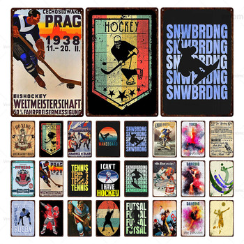 Boxing Hockey Dancing Metal Sports Sign Tin Sign Poster Plaque Metal Vintage Retro Wall Decor for Bar Pub Club Man Cave Plate whiskey vintage metal sign tin sign plaque metal vintage retro wall decor for bar pub club man cave metal signs poster