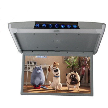 """2019 Car Ceiling Flip Down Roof Mount Monitor 17.3"""" IPS Screen 1080P HD Video Android 8.1 WIFI/HDMI/USB/SD/FM/Bluetooth/Speaker"""
