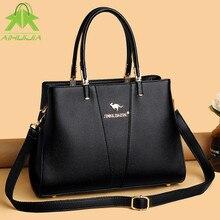 Fashion Simplicity Womens Shoulder Bags High Capacity Messenger Bag 2021 New High Quality Pu Leather Solid Color Women Handbag