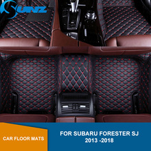 car floor mats case for ford escape kuga maverick 2015 customized auto 3d carpets custom fit foot liner mat car rugs black Leather Car floor mats For Subaru Forester SJ 2013 2014 2015 2016 2017 2018 Waterproof Carpets   Custom auto foot Pads SUNZ