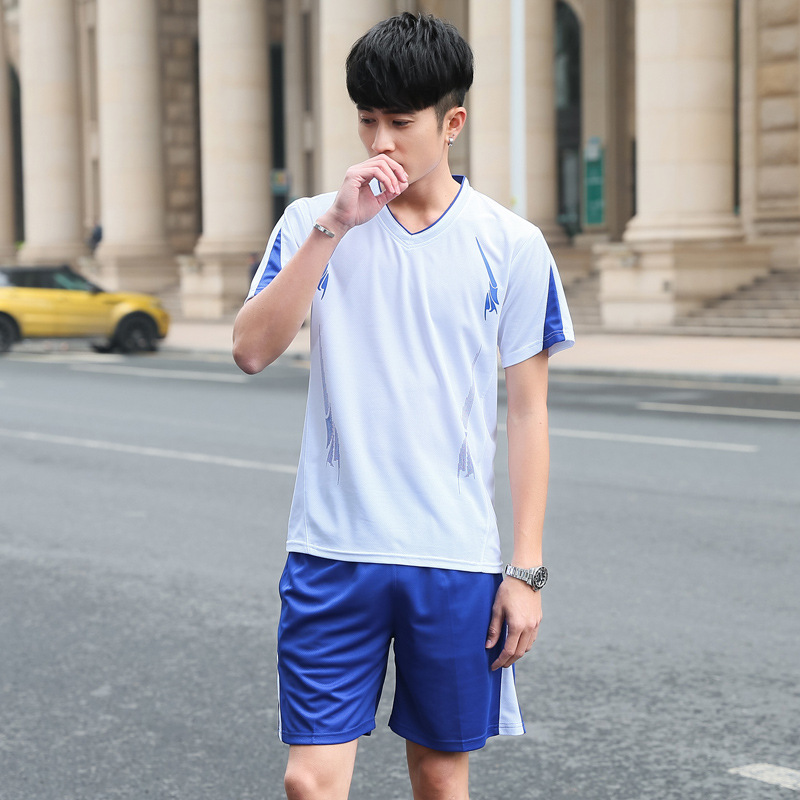 MEN'S Sport Suit Morning Run Fashion & Sports Clothing Casual MEN'S Short-sleeved Shirt Short Shorts Fitness