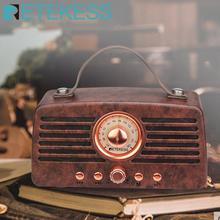 Retekess TR607 Classical Retro FM Radio Receiver Portable Decoration MP3 Radio stereo Bluetooth Speaker AUX USB Rechargeable