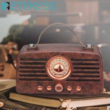 Retekess TR607คลาสสิกRetroเครื่องรับวิทยุFMแบบพกพาตกแต่งMP3วิทยุสเตอริโอลำโพงบลูทูธAUX USBชาร์จ