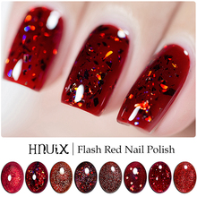 HNUIX 7ml UV Gel nail polish Red glitter glitter soak UV Gel color varnish nail polish DIY varnish Nail art Gel lacquer catuness latest new shiny neon lamp uv lucky gel polish diy nail art set candy color gel shining glitter lacquer paint varnish