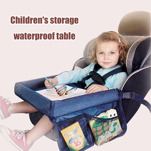 Image 2 - Car Seat Travel Tray Safety Seat Play Table Organizer Storage Snacks Toys Cup Holder Waterproof For Baby Children Kids Stroller