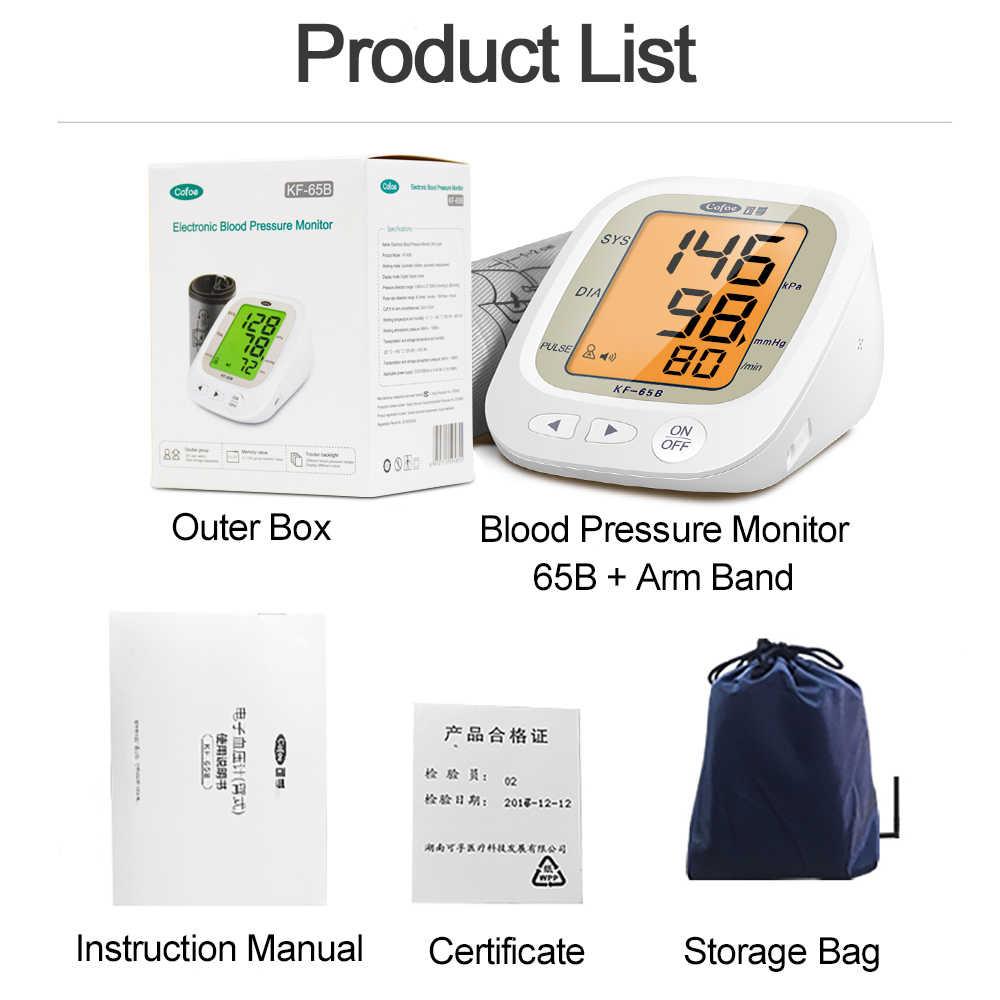 Nowy górny ciśnieniomierz na ramię Cofoe/tonometr/cyfrowy sfigmomanometr do pomiaru tętna pomiar tętna opieka medyczna