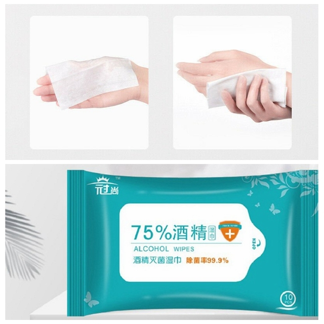 50PCS Portable Disinfection Antiseptic Pads Alcohol Swabs Wet Wipes Skin Cleaning Care Sterilization Cleaning Tissue 3