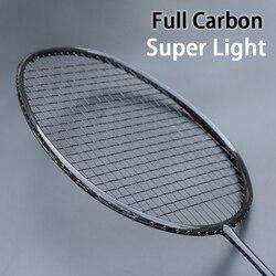 Professionale Full Carbon Tessuto Ultralight Racchetta di Volano con Lo Spago Borse Raqueta Z Velocità Forza di Formazione Racchette 22-32LBS