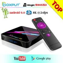 Caixa de mídia youtube x88 pro x3, mais nova geração de x88 pro x3 android 9.0 rockchip s905x3 quad core 64bit Cortex A55, google play