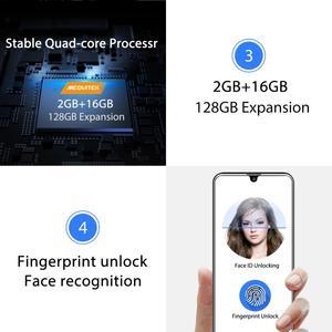 "Image 5 - Oukitel C16 Android 9,0 pastel Smartphone cara ID 5,71 ""19:9 gota de agua pantalla 2GB RAM 16GB ROM MT6580P Quad Core 4G teléfono móvil"