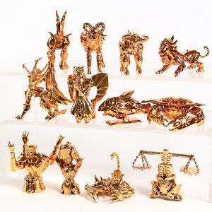 Image 5 - Saint Seiya figuras para escritorio del zodiaco dorado, Mini figuras para escritorio, juguetes Brinquedo, 12 unidades