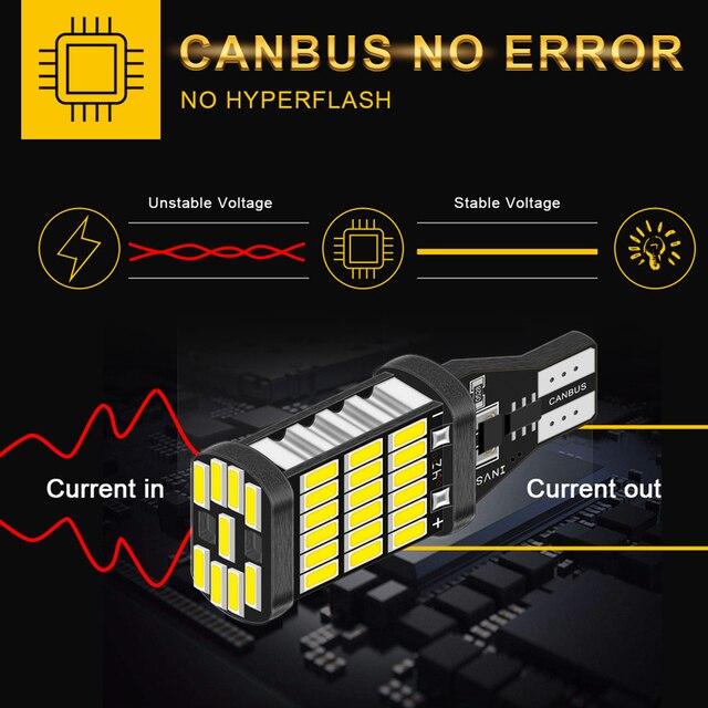 2 sztuk T15 T16 Canbus 921 W16W samochodowa żarówka led dodatkowe światła cofania dla Audi A4 B8 B6 A3 8P RS5 A6 C5 C6 C7 A7 A8 Q5 Q7 S4 S5 S6 TT