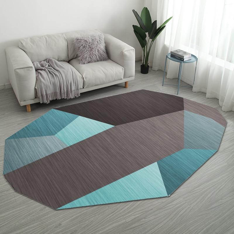 Nordic нерегулярные геометрический Коврик дома Гостиная коврики для ванной комнаты творческий Спальня прикроватные покрывало, плед исследование Йога Teppich коврик - Цвет: Style 12