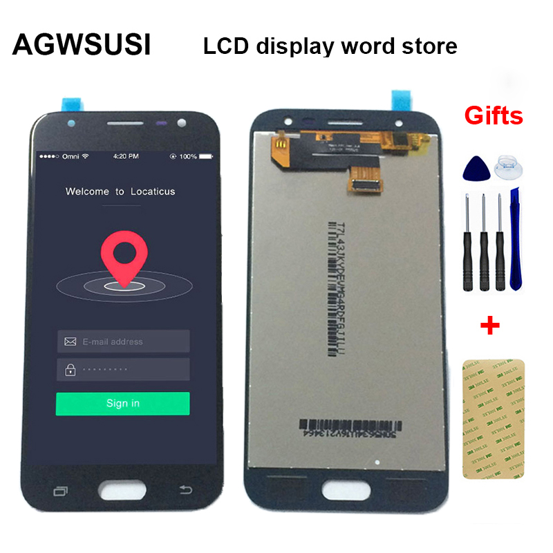 Brightness Adjustable For Samsung Galaxy J3 pro 2017 J330 J330F SM J330F/DS LCD Display Monitor + Touch Screen Assembly|Mobile Phone LCD Screens| |  - title=
