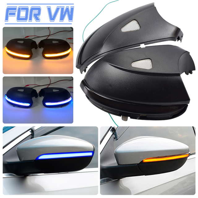 For Volkswagen VW Beetle A5 2011 2015 Car LED Dynamic Turn Signal Light Side Mirror Indicator Blinker Lamp