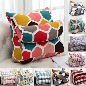 10 Colors 45x45x20cm Triangular Backrest Cushion Cotton Linen Home Office Chair Sofa Cushions Bed Rest Back Pillow Waist Cushion