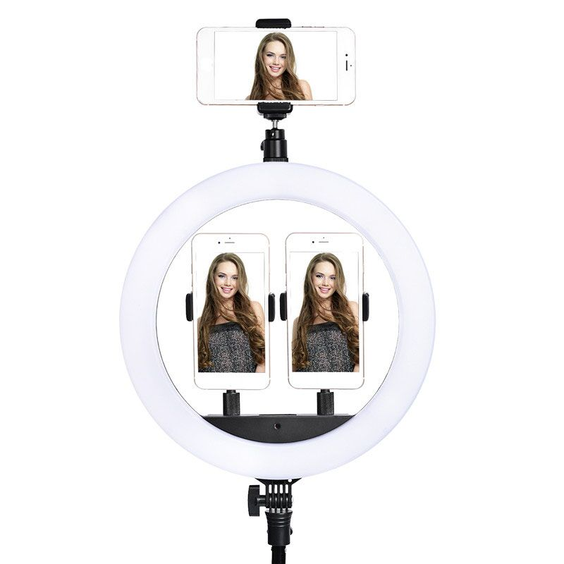 fosoto LED Ring Light Selfie Photo Photography Lighting Ringlight lamp With Tripod Stand For Photo Studio fosoto LED Ring Light Selfie Photo Photography Lighting Ringlight lamp With Tripod Stand For Photo Studio Makeup Video Live Show