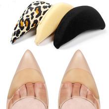 1 para Anti-Pain poduszka stóp przodostopia pół metra wkładka do butów górna wtyczka wskazał okrągłe wkładki do butów wkładki Toe akcesoria do butów tanie tanio KAIGOTOQIGO ≤1cm Średnie (b m) Shoes Pad WOMEN Gąbka Stałe Wytrzymałe Szok-chłonnym Shoe Cushion