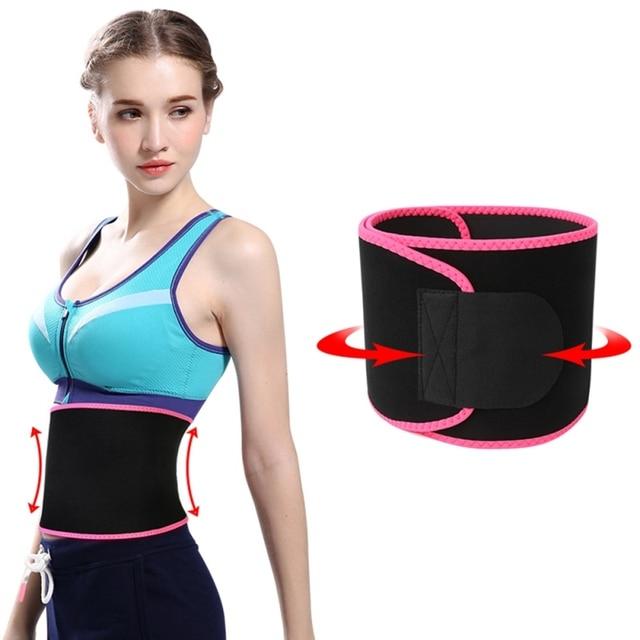Sport Waist Trimmer Belt Weight Loss Sweat Band Wrap Fat Tummy Stomach Sauna Sweat Belt