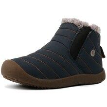 Модные зимние мужские ботинки водонепроницаемые удобные зимние ботинки меховые теплые зимние ботильоны мужская обувь мужская легкая обувь