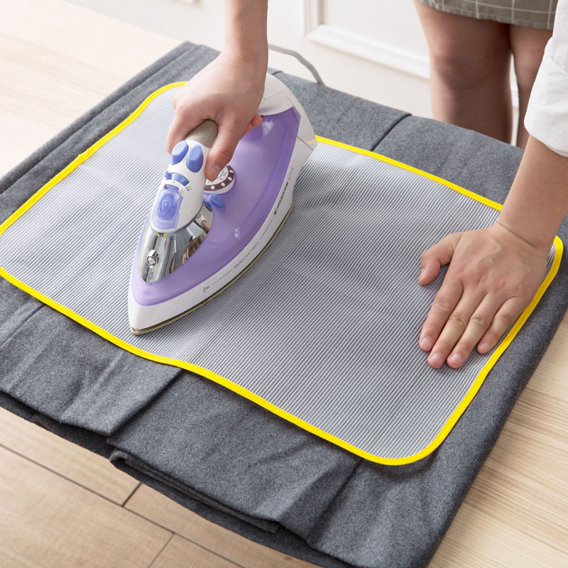 1PC Heat Resistant Cloth Mesh Ironing Board Mat Clothes Cover Protect Ironing Pad 60*40cm 50*35cm Random Color New image