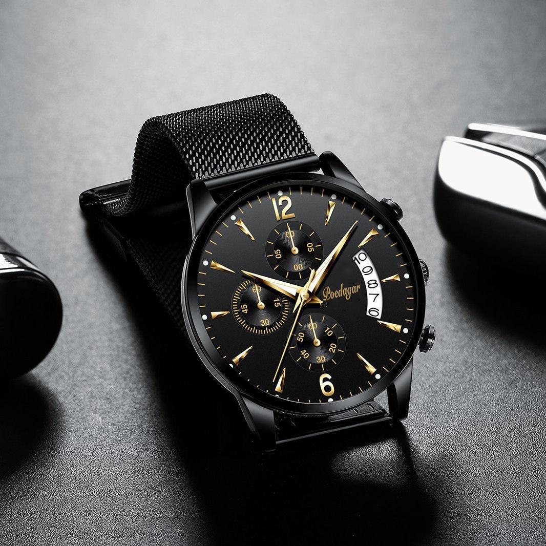 POEDAGAR 2021 New Fashion Men's Watches Waterproof Luminous Quartz Wristwatch Top Brand Luxury Clock Casual Relogio Masculino 6