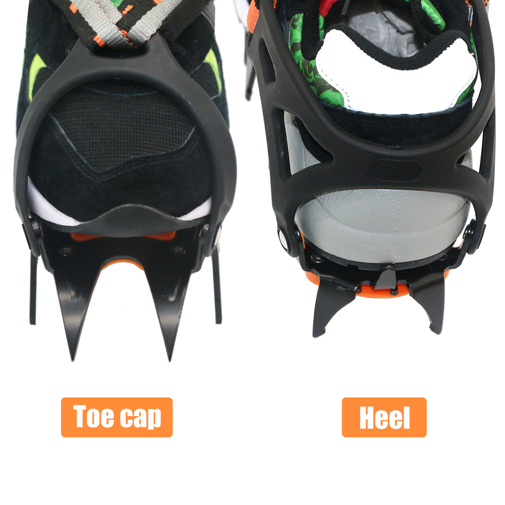 12 Teeth Professional Crampons Outdoor Rock Climbing Ice Fishing Snow Skid Shoes Cover Mountaineering Skid Gear