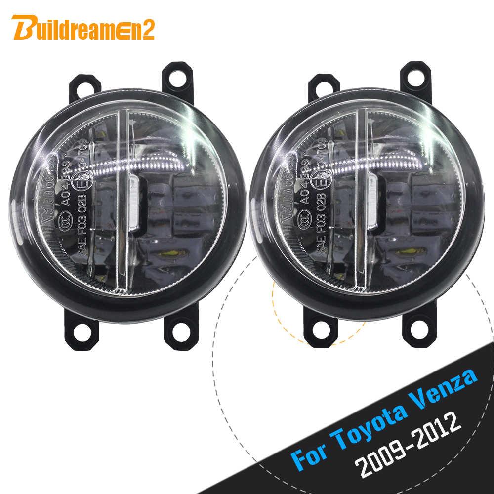 Buildreamen2 2 × 車のスタイリング 4000LM LED 電球フォグライト昼間 DRL 12 トヨタ Venza は 2009 2010 2011 2012