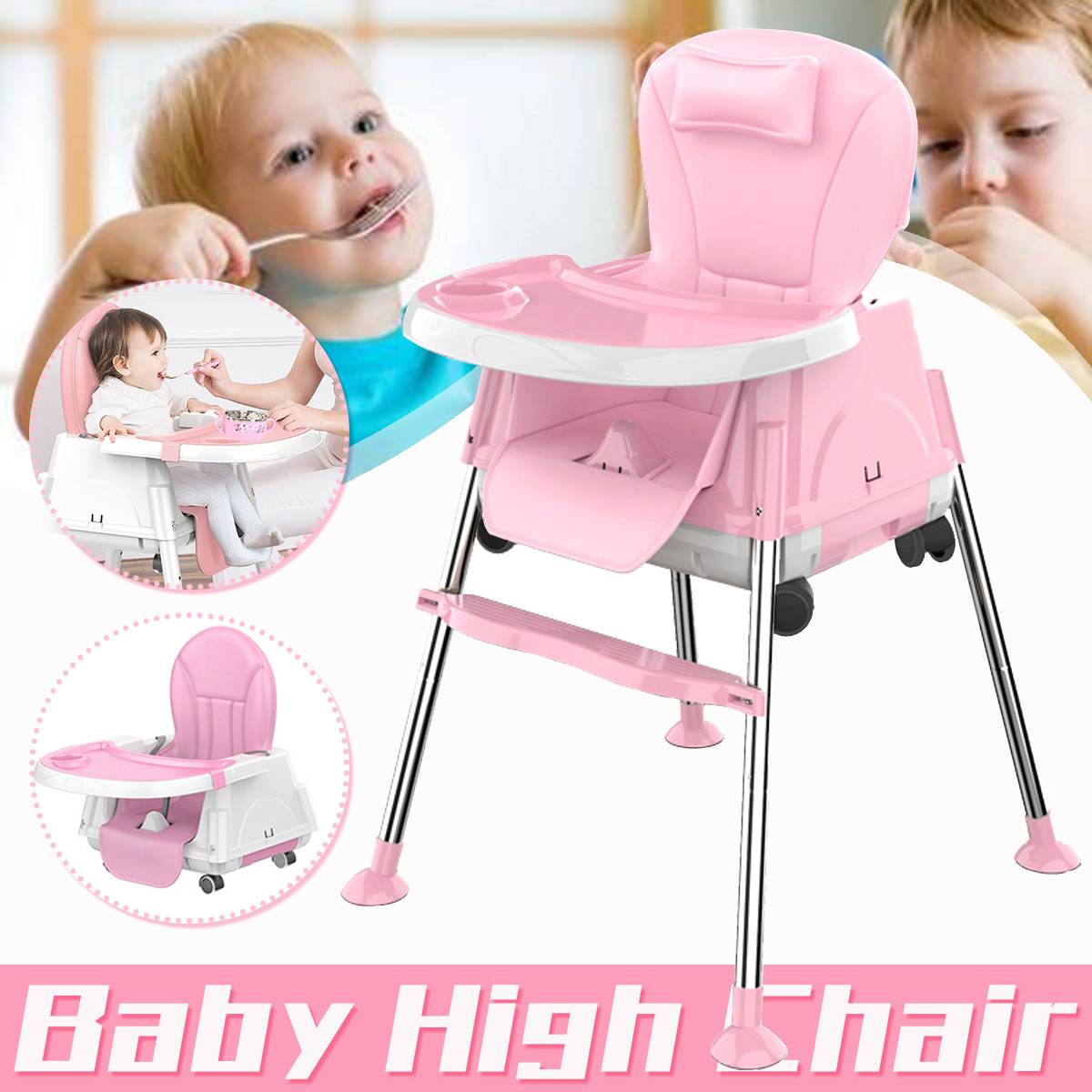NEW Portable Multifunctional Baby Seat Baby Dinner Table Multifunction Adjustable Convertible Baby Chairs for Child