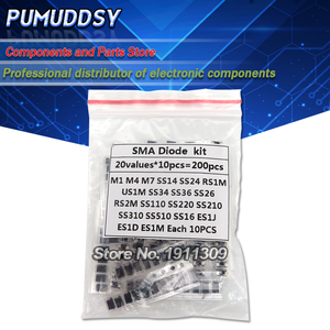 20value*10PCS=200PCS SMD diode Assorted Kit contains SS110 SS220 SS210 SS310 SS510 SS16 SS26 SS34 SS36 ES1J ES1D M7 M4 US1M