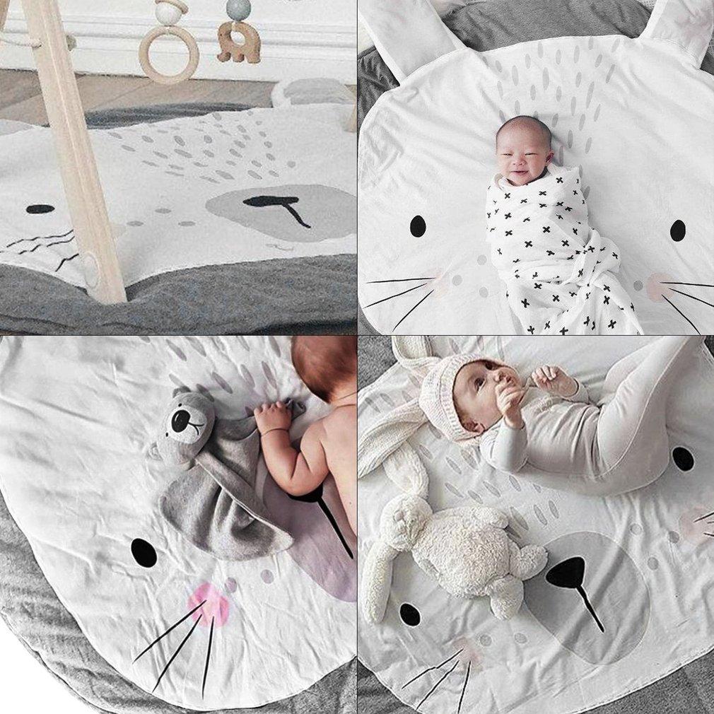 95CM bébé jouer jeu ramper tapis doux rond coton tapis enfants tapis de couchage tapis cygne couverture pour enfants chambre décor vente