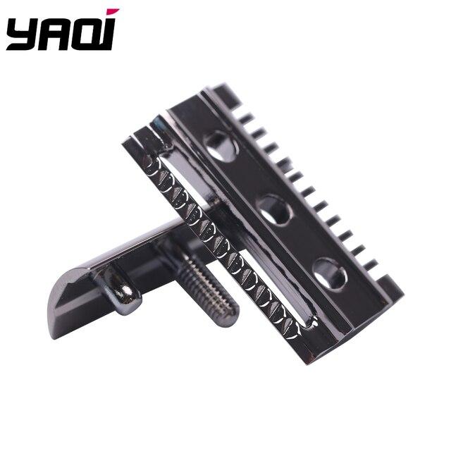 """The ""FLIPSIDE by Yaqi"" A Dual Comb Dual Aggression Level Razor Head In Chrome In Gunmetal 1"
