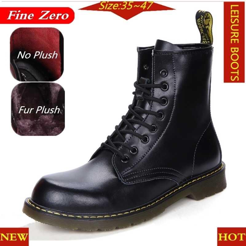 יוניסקס גדול גודל 47 בריטי אופנוע סתיו חורף נעלי גברים מדבר החורף חם בפלאש קרסול מגפי רכיבה נעליים