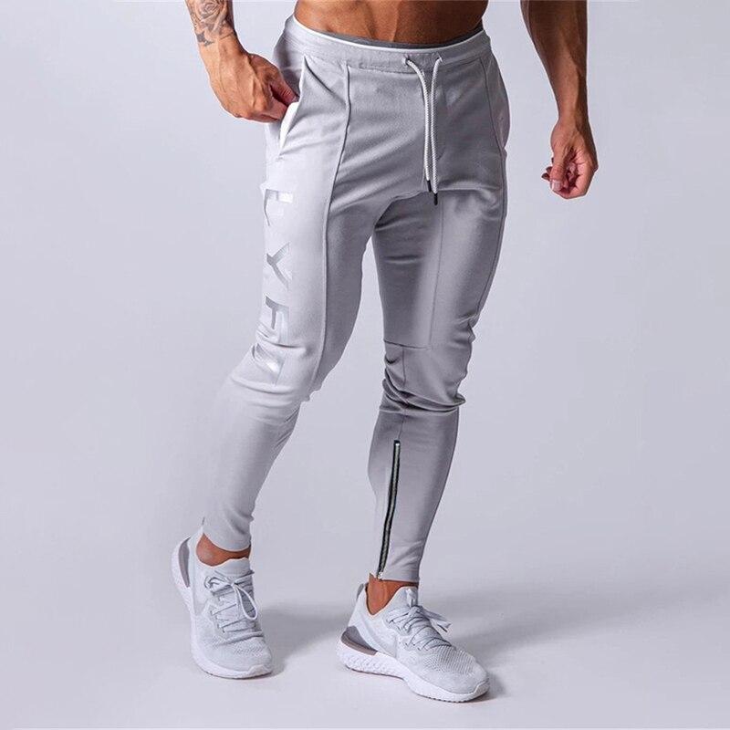 Спортивные штаны для спортзала и фитнеса, мужские тренировочные штаны, хлопковая спортивная одежда, обтягивающие брюки, одежда для трениро...