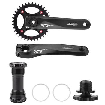 MTB Bike Crankset Aluminum Alloy With Bottom Bicycle Crank Accessories 170mm Hollow Tooth Plate Sprocket