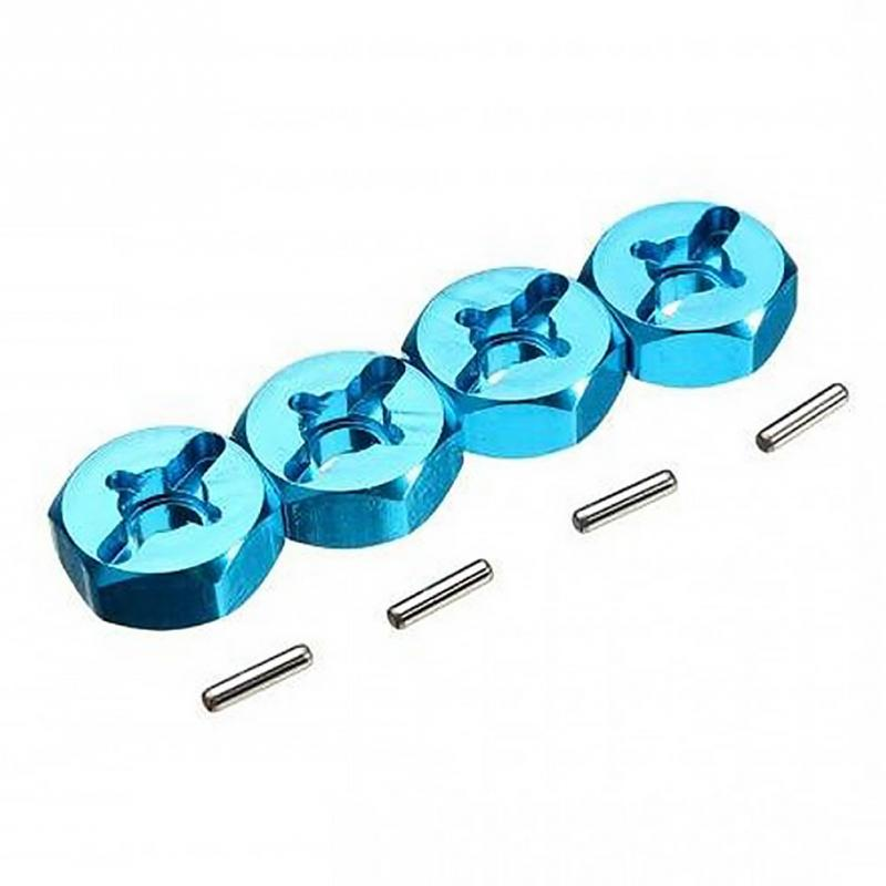 4Pcs Hexagonal Combiner Wheel Rim Hex 7Mm Upgrade 12Mm Metal Adapter For 1/18 Wltoys A949 A959 A969 A979 K929 1/10 Tires