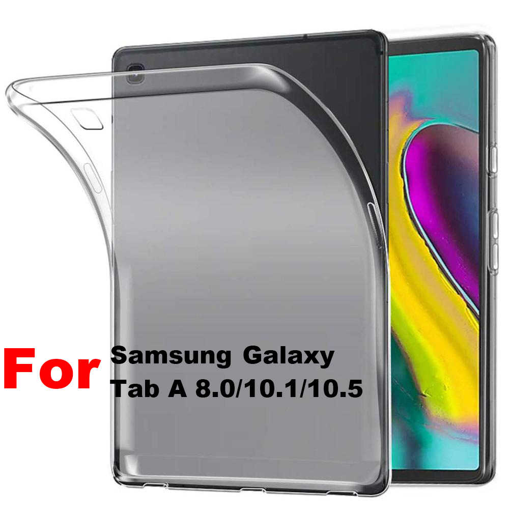1 PC Ultra Slim Transparan Lembut Case Cover Pelindung Shockproof Shell untuk Samsung Galaxy Tab A 8.0 10.1 10.5 s4/S5e